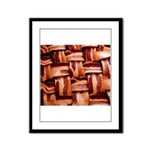 Bacon weave Framed Panel Print