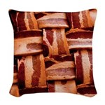 Bacon weave Woven Throw Pillow