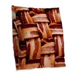 Bacon weave Burlap Throw Pillow