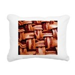 Bacon weave Rectangular Canvas Pillow