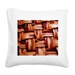 Bacon weave Square Canvas Pillow