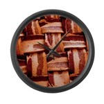 Bacon weave Large Wall Clock