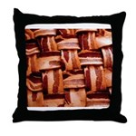 Bacon weave Throw Pillow