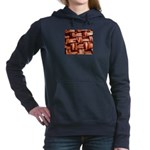 Bacon weave Women's Hooded Sweatshirt