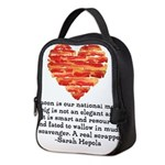 Sarah Hepola Quote about Bacon Neoprene Lunch Bag