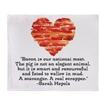 Sarah Hepola Quote about Bacon Throw Blanket