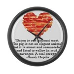 Sarah Hepola Quote about Bacon Large Wall Clock