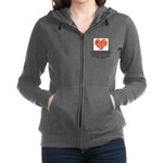 Sarah Hepola Quote about Bacon Women's Zip Hoodie