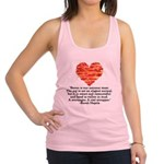 Sarah Hepola Quote about Bacon Racerback Tank Top