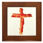 Bacon Cross Framed Tile