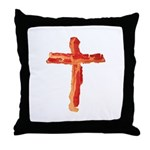 Bacon Cross Throw Pillow