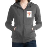 Bacon Cross Women's Zip Hoodie