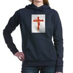 Bacon Cross Women's Hooded Sweatshirt