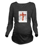 Bacon Cross Long Sleeve Maternity T-Shirt