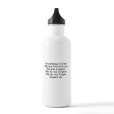Knowledge is free.1 Water Bottle