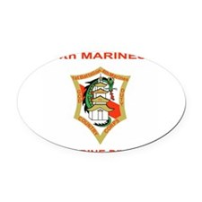 Cute Marine veteran Oval Car Magnet