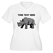 Custom Baby Rhino Plus Size T-Shirt
