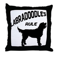Labradoodles Rule Throw Pillow