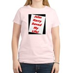 John Kerry Saved My Life Women's Pink T-Shirt