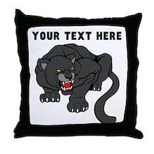 Custom Black Panther Throw Pillow