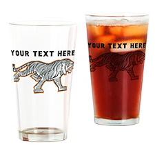 Custom White Tiger Drinking Glass