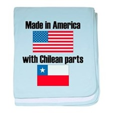 Made In America With Chilean Parts baby blanket