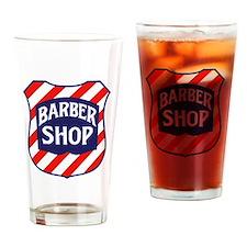 Barbershop Shield Drinking Glass