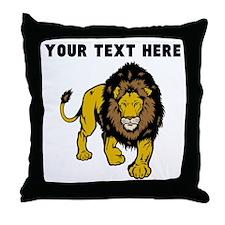 Custom Male Lion Throw Pillow