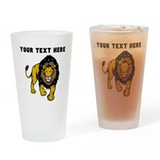 Custom Male Lion Drinking Glass