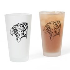 Angry Tiger Drinking Glass