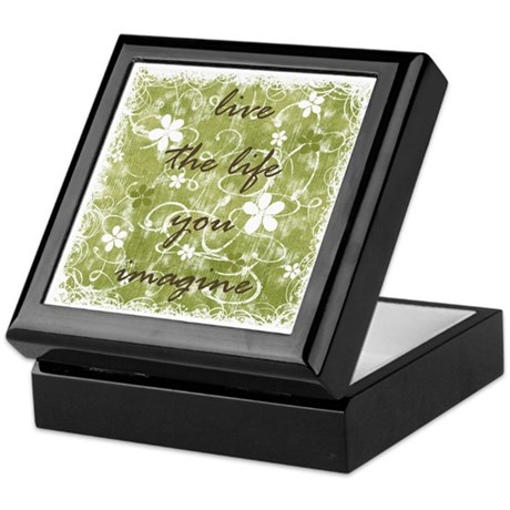 live the life you imagine (green) Keepsake Box