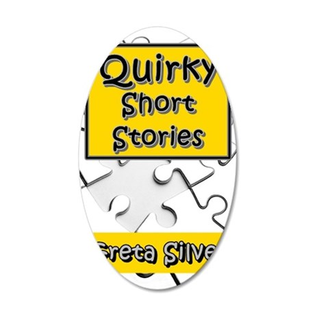 Quirky Short Stories 35x21 Oval Wall Decal
