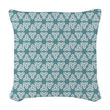 Jade Lace Woven Throw Pillow