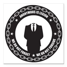 "Anonymous is Legion Square Car Magnet 3"" x 3"""