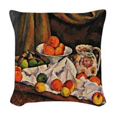 Cezanne - Fruit Bowl, Pitcher, Woven Throw Pillow