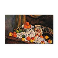 Cezanne - Fruit Bowl, Pitcher Rectangle Car Magnet