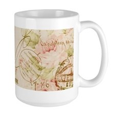 elegant paris Eiffel tower floral art Mugs