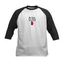 My Uncle (Your Name) Saves Lives Baseball Jersey