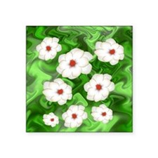 "More Fractal Magnolias Square Sticker 3"" x 3"""