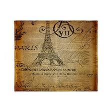scripts elegant paris Eiffel tower Throw Blanket