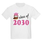 Class of 2030 (Owl) Kids Light T-Shirt