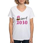 Class of 2030 (Owl) Women's V-Neck T-Shirt