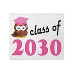 Class of 2030 (Owl) Throw Blanket