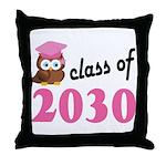 Class of 2030 (Owl) Throw Pillow