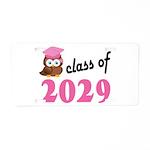 Class of 2029 (Owl) Aluminum License Plate