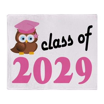 Class of 2029 (Owl) Throw Blanket