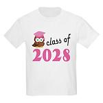 Class of 2028 (Owl) Kids Light T-Shirt