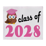 Class of 2028 (Owl) Throw Blanket