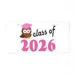 Class of 2026 (Owl) Aluminum License Plate