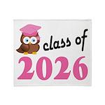 Class of 2026 (Owl) Throw Blanket